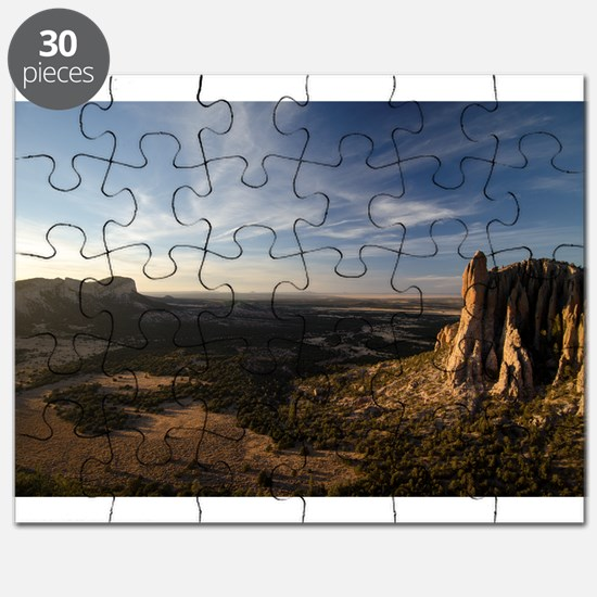The Sawtooth Mountains at Sunset Puzzle