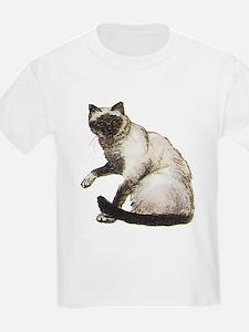 Birman Cat (Front only) Kids T-Shirt