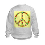Peace Symbol Bronze Stars on Kids Sweatshirt