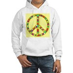 Peace Symbol Bronze Stars on Hooded Sweatshirt