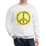 Peace Symbol Bronze Stars on Sweatshirt