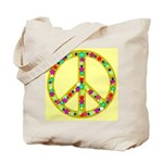 Peace Symbol Bronze Stars on Tote Bag