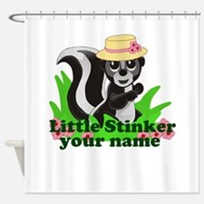 Personalized Little Stinker (Girl) Shower Curtain