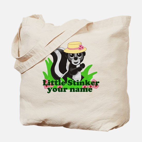 Personalized Little Stinker (Girl) Tote Bag