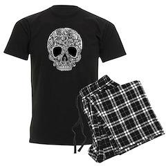 Psychedelic Skull White Pajamas
