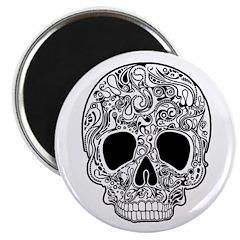 Psychedelic Skull White Magnet