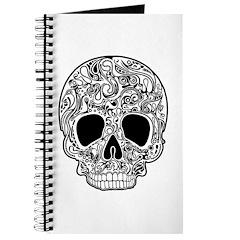 Psychedelic Skull White Journal