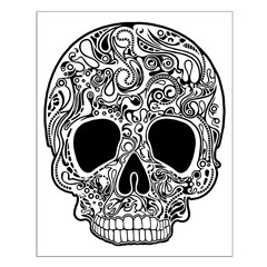 Psychedelic Skull White Posters