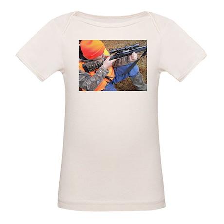 Hunter Aiming Organic Baby T-Shirt