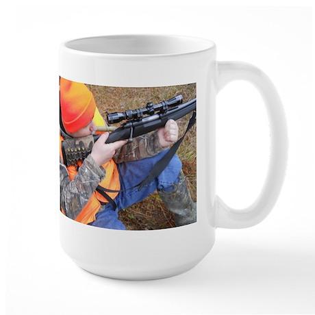 Hunter Aiming Large Mug