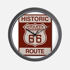 Duarte Route 66 Wall Clock