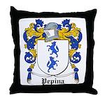 Pepina Coat of Arms Throw Pillow