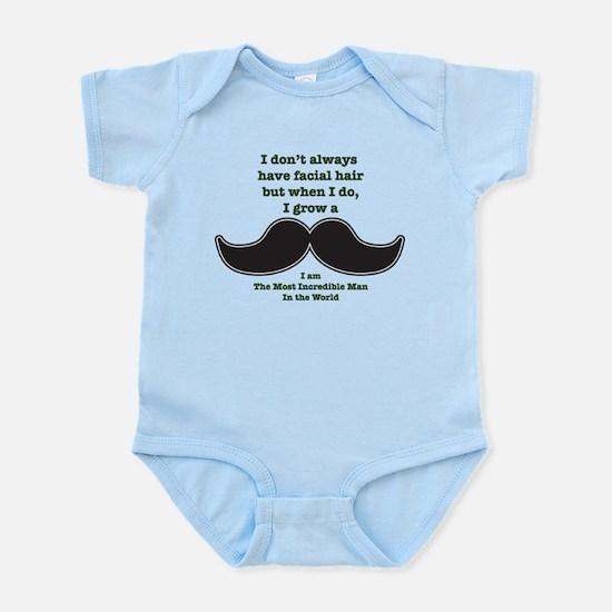 Mustache Saying Infant Bodysuit