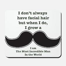 Mustache Saying Mousepad