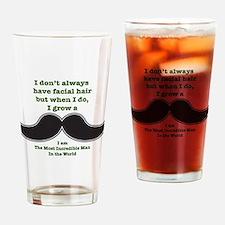 Mustache Saying Drinking Glass