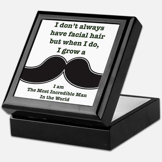 Mustache Saying Keepsake Box
