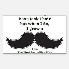 Mustache Saying Sticker (Rectangle)