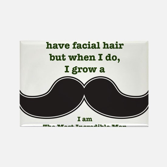 Mustache Saying Rectangle Magnet