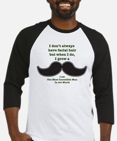 Mustache Saying Baseball Jersey