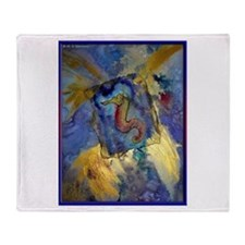 Sea Horse! Wildlife art! Throw Blanket