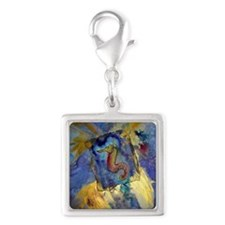 Sea Horse! Wildlife art! Silver Square Charm