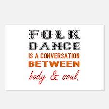 Folk dance is a conversat Postcards (Package of 8)