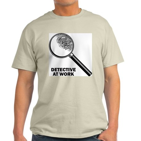 Detective At Work Ash Grey T-Shirt