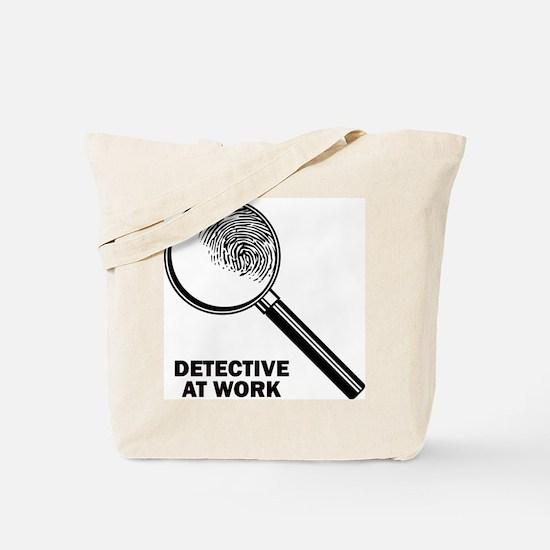 Detective At Work Tote Bag