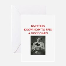 knitters Greeting Card