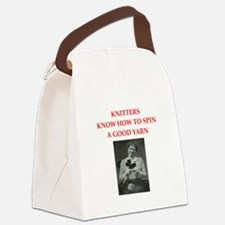 knitters Canvas Lunch Bag