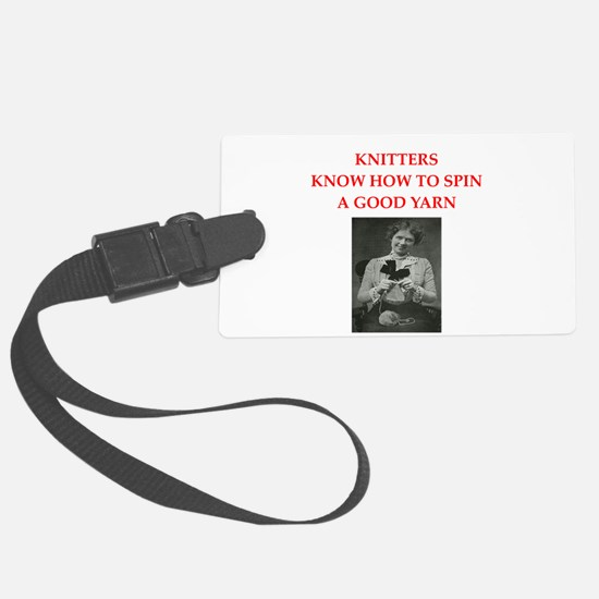 knitters Luggage Tag