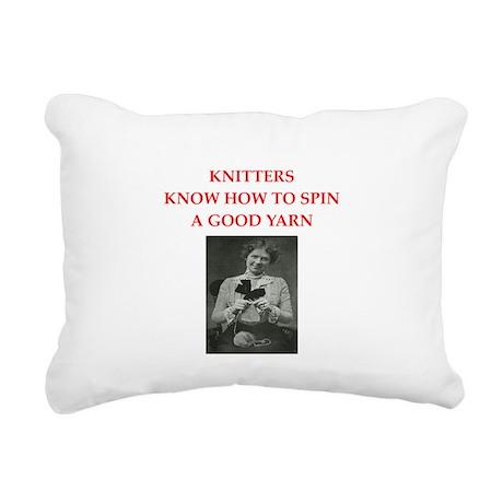 knitters Rectangular Canvas Pillow