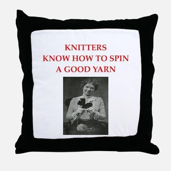 knitters Throw Pillow