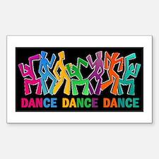 Dance Dance Dance Sticker (Rectangle)