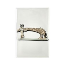 Funny Giraffe Rectangle Magnet