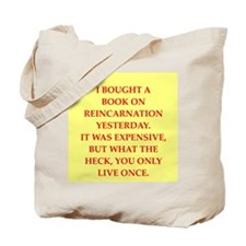 new age joke Tote Bag