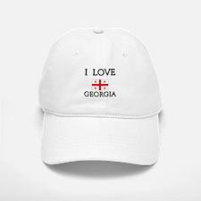 I Love Georgia Baseball Baseball Cap