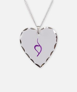 Cute Eating disorders Necklace Heart Charm