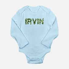 Irvin, Vintage Camo, Long Sleeve Infant Bodysuit