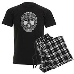 Psychedelic Skull Black Pajamas