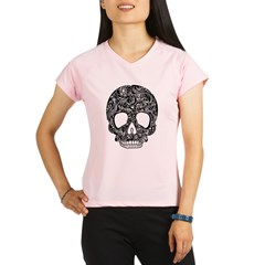 Psychedelic Skull Black Performance Dry T-Shirt