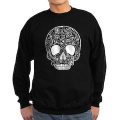 Psychedelic Skull Black Sweatshirt (dark)
