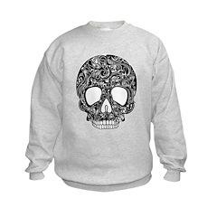 Psychedelic Skull Black Sweatshirt