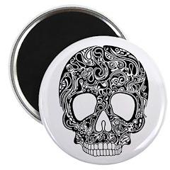Psychedelic Skull Black Magnet