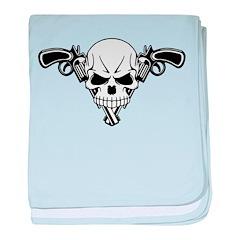 Skull and Guns baby blanket
