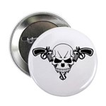 "Skull and Guns 2.25"" Button (10 pack)"