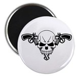 "Skull and Guns 2.25"" Magnet (100 pack)"
