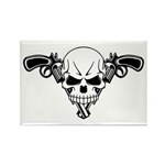Skull and Guns Rectangle Magnet (100 pack)