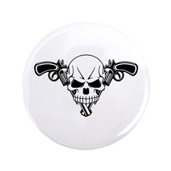 "Skull and Guns 3.5"" Button"