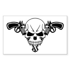 Skull and Guns Decal